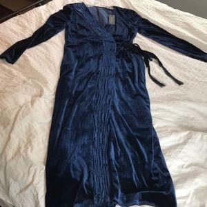 New Rachel Zoe Navy Saphire Velvet wrap Dress!